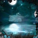 Magiska blått Arkivfoton