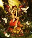 Magiska Forest Fairy Arkivfoton
