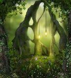 Magiska Forest Fairy Lights arkivfoton