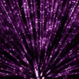 Magiska ljusa strålar Arkivbild