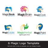 Magiska Logo Template Design Vector Vektor Illustrationer