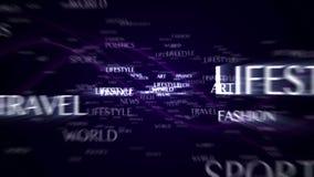 Magiska partiklar Ring Abstract Background Animation lager videofilmer