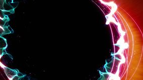 Magiska partiklar Ring Abstract Background Animation arkivfilmer