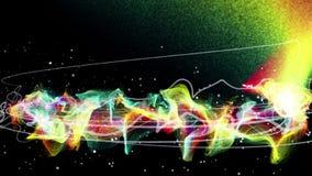 Magiska partiklar ringer abstrakt bakgrund, animeringen, tolkningen, ögla lager videofilmer