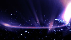 Magiska partiklar ringer abstrakt bakgrund, animeringen, tolkningen, ögla arkivfilmer