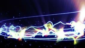 Magiska partiklar ringer abstrakt bakgrund, animeringen, tolkningen, ögla - lager videofilmer