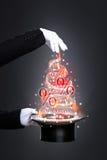 Magiska rabatter för nytt år Arkivfoto