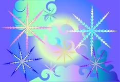 magiska snowflakes royaltyfri illustrationer