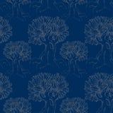 Magiska träd på natten Vektor Illustrationer