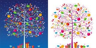 magiska trees stock illustrationer