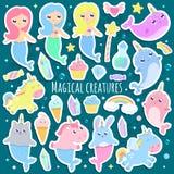 Magiska varelser royaltyfri illustrationer