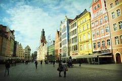 Magiska Wroclaw Arkivbilder