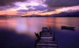 Magiskt ögonblick - tyst bro Royaltyfri Bild