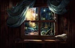 Magiskt fönster Arkivfoton