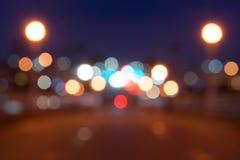 Magiskt glöda suddigt ut ur effekt för fokusbakgrundsljus Royaltyfri Bild