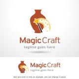 Magiskt hantverk Logo Template Design Vector Royaltyfri Bild