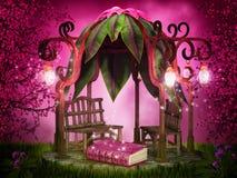 Magiskt läsningställe royaltyfri illustrationer