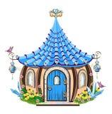 Magiskt litet hus royaltyfri illustrationer