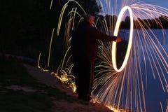 Magiskt ljus fångar fiskögonen royaltyfri foto