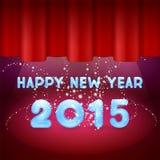 Magiskt lyckligt nytt år på etapp Arkivfoton