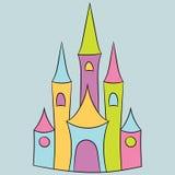 Magiskt slott Arkivbild