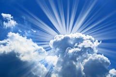 magiskt solsken Arkivbild
