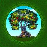 Magiskt träd med äpplen och citroner vektor illustrationer