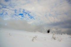 Magiskt vinterlandskap Dragobrat. En. Royaltyfria Bilder