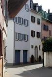 Magister Faust gata i Bad Kreuznach, Tyskland arkivbilder