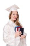 Magisterska dziewczyna z dyplomem Obrazy Royalty Free