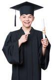 Magisterski nastoletni chłopiec uczeń Zdjęcie Royalty Free