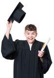 Magisterski nastoletni chłopiec uczeń Zdjęcia Stock