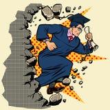 Magisterski university college łama ścianę, niszczy stereotypy ilustracja wektor