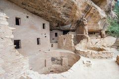 Magistrala dobrze w faleza pałac antycznej puebloan wiosce domy i mieszkania w mesy Verde parku narodowym Nowym - Mexico usa Zdjęcie Royalty Free