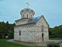 Magistrala kamienny kościelny monaster Hopovo w Serbia Zdjęcia Royalty Free