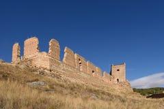 Magistrala kasztel Daroca; Zaragoza prowincja fotografia royalty free