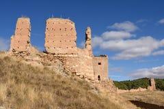 Magistrala kasztel Daroca; Zaragoza prowincja, fotografia stock