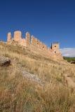 Magistrala kasztel Daroca; Zaragoza prowincja zdjęcia stock