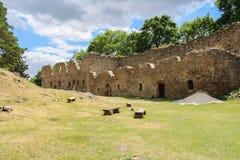 Magistrala sąd stara grodowa ruina czeski krajobrazu fotografia stock