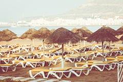 Magistrali plaża w Agadir mieście lokalizować na brzeg Atlantyk O Obraz Royalty Free