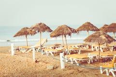 Magistrali plaża w Agadir mieście lokalizować na brzeg Atlantyk O Zdjęcia Royalty Free