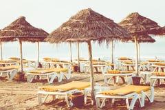 Magistrali plaża w Agadir mieście lokalizować na brzeg Atlantyk O Fotografia Stock