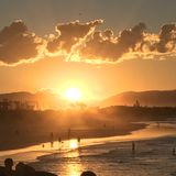 Magistrali plaża, Byron zatoka, NSW, Australia Zdjęcia Stock