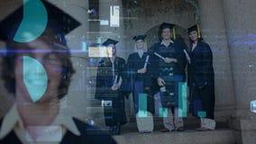 Magistranci w kawalerze ubierają z dane animacją w przedpolu