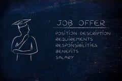 Magistrant/magistrantka analizuje oferty pracy i ich cechy Obrazy Royalty Free