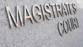 Magistrates Court sign, law courts, courthouse Royalty Free Stock Image