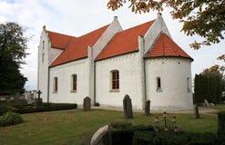 Maglarps gamlakyrka, Trelleborg, Sverige Arkivfoton