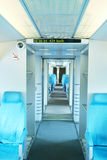 Maglev train interior view Royalty Free Stock Photo