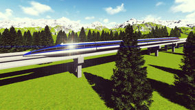 Maglev train Raster 4 4 Royalty Free Stock Image