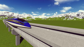 Maglev train Raster 7 7 Stock Images